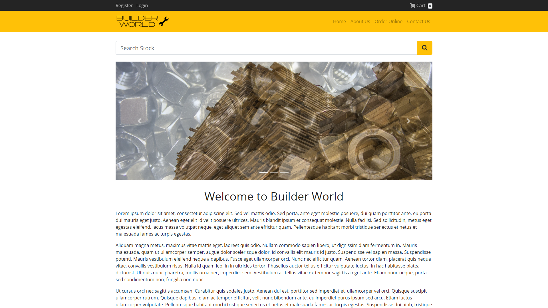 Builders World, eSolve eCommerce Template