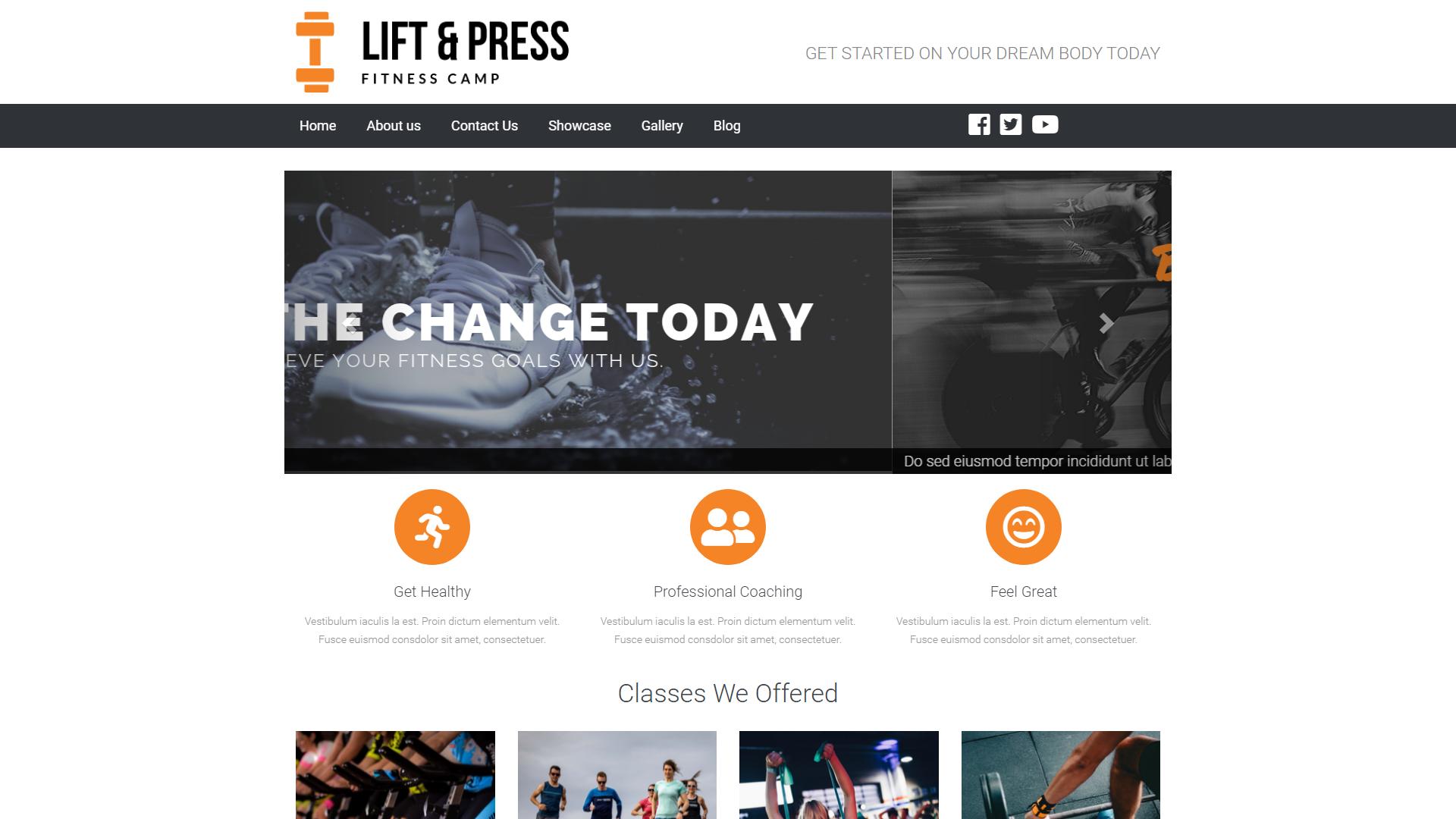 Lift & Press, eSolve Showcase Website Template