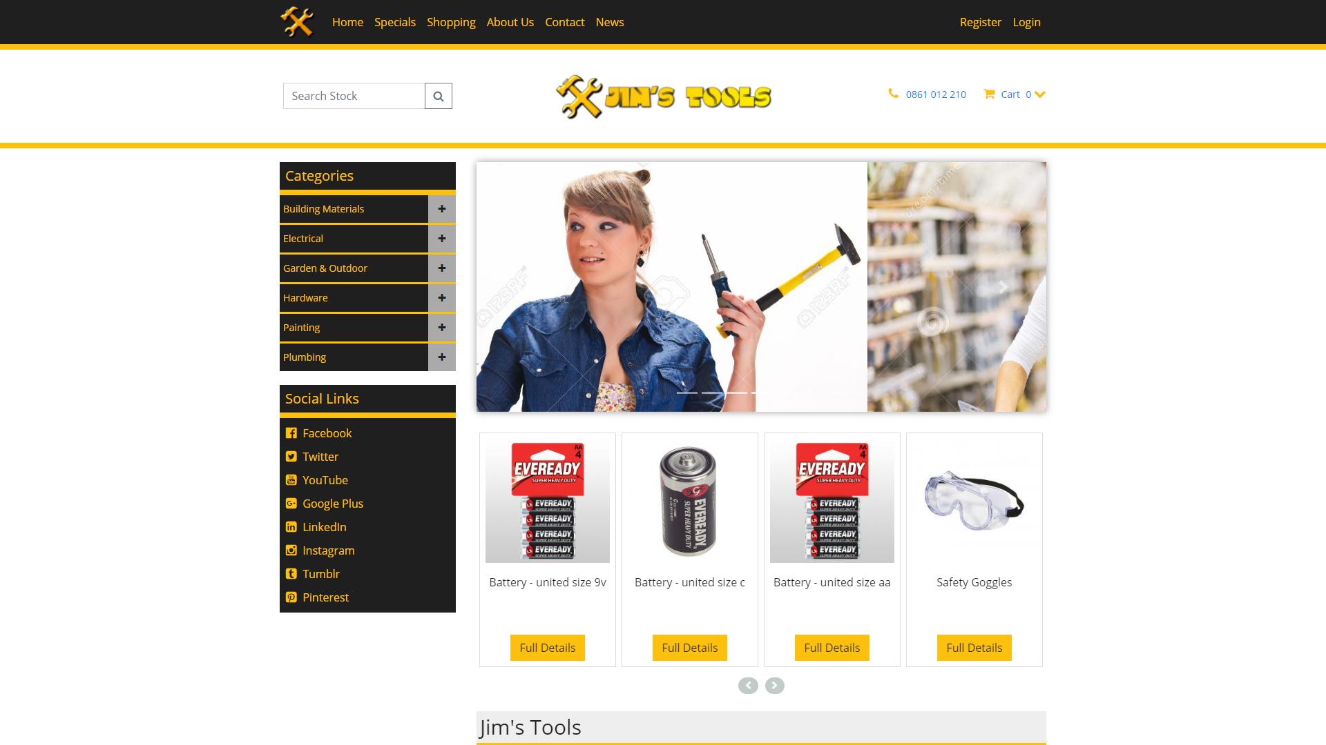 Jim's Tools, eSolve eCommerce Template