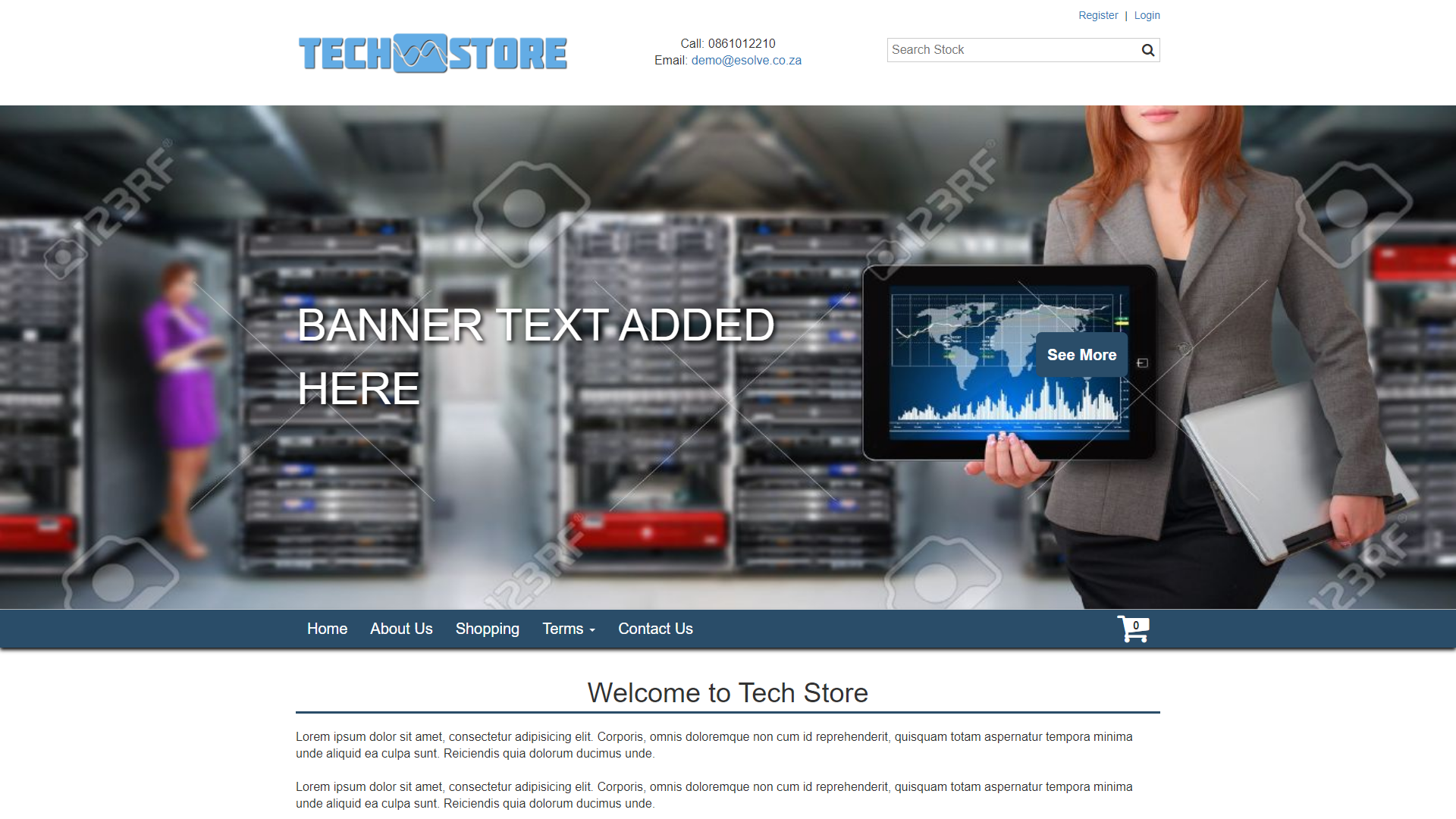 Tech Store, eSolve eCommerce Template
