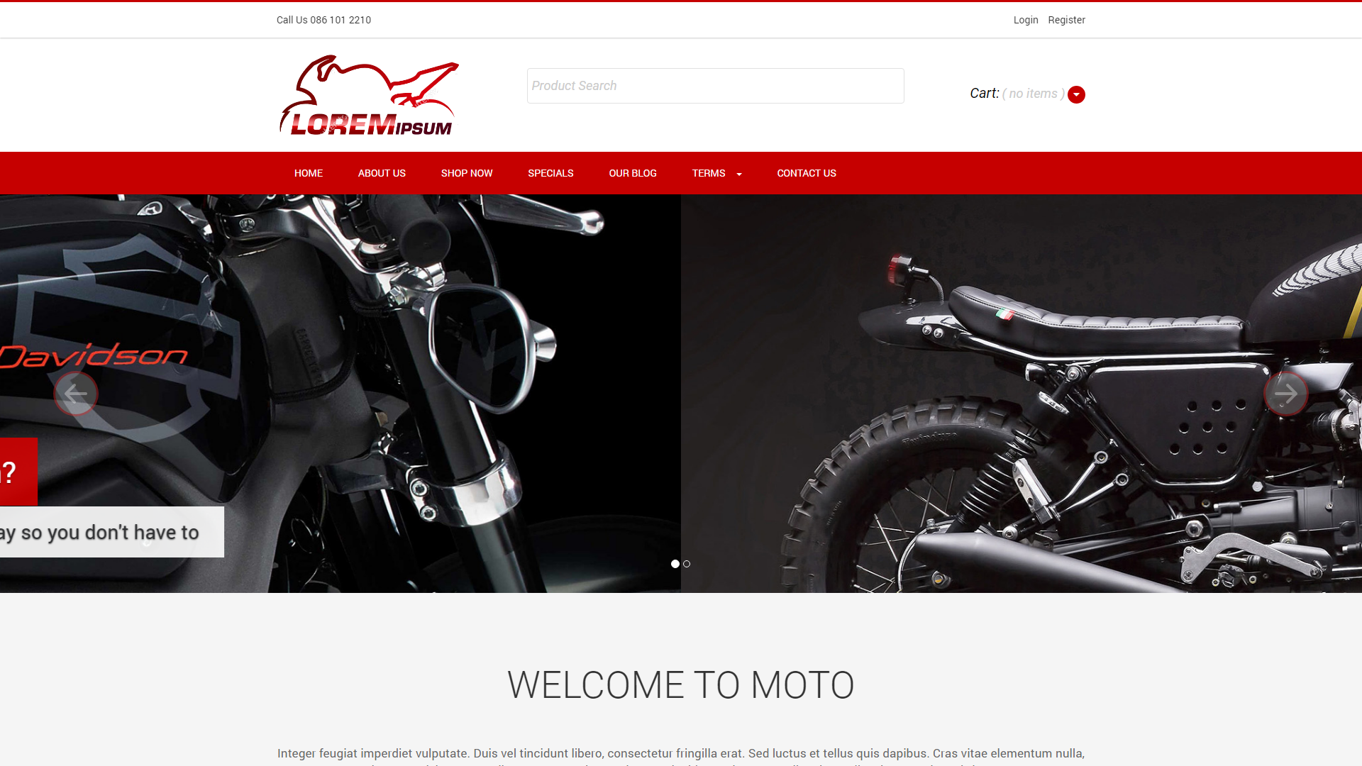 Moto, eSolve eCommerce Template