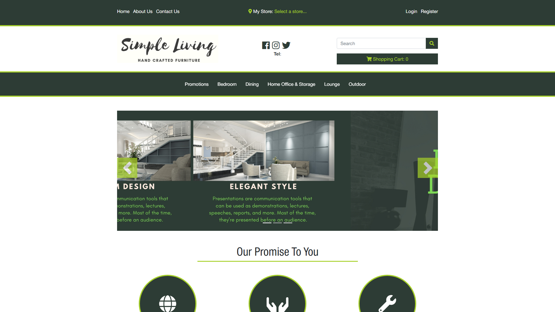 Simple Living, eSolve eCommerce Template